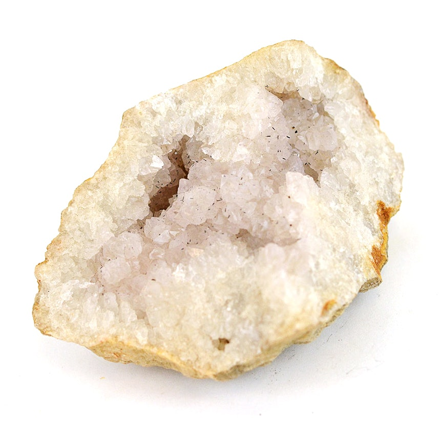 Quartz Geode With Possible Rutile Crystals