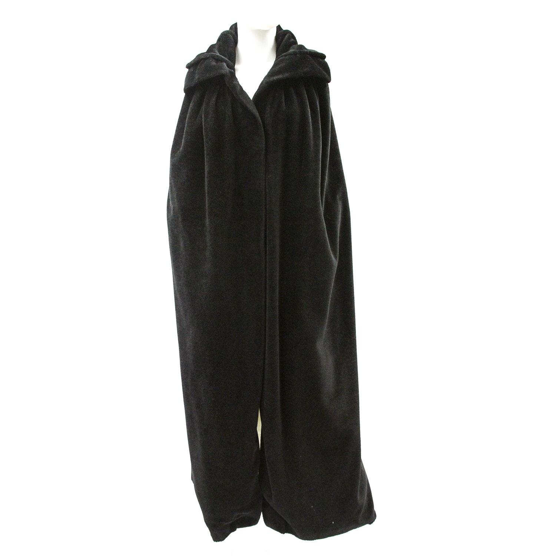 1920's Black Velvet Full Length Opera Coat