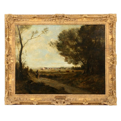 """""""Landscape by the Sea"""", The Jean Baptiste Camille Corot from the John H. Converse Collection"""