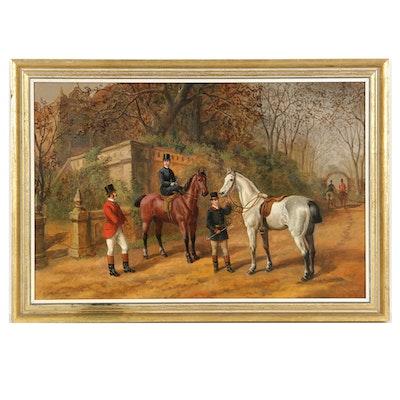 Edward Benjamin Herberte English Sporting Oil on Canvas