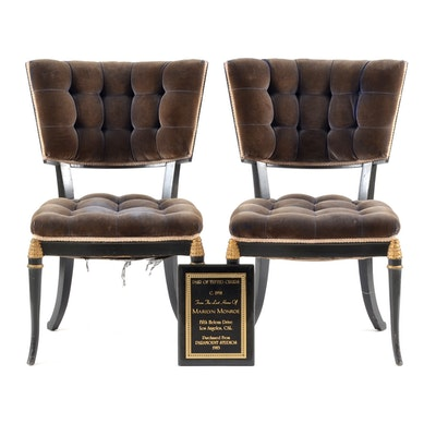 Pair of 1950s Chairs Marilyn Monroe Provenance