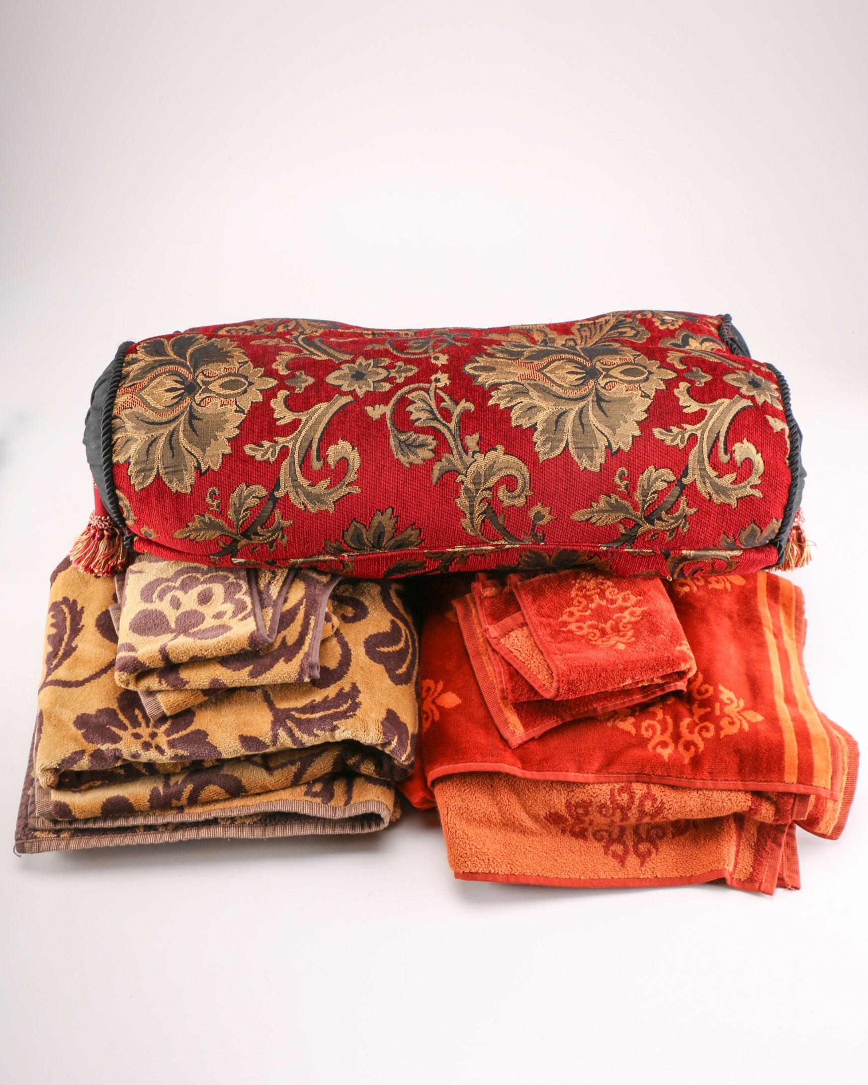 Bath Set and Bolster Pillows