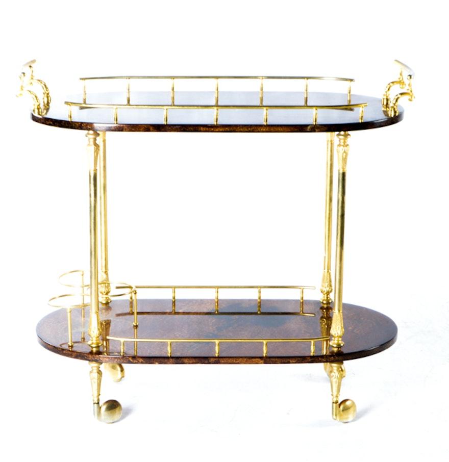 Aldo Tura Italian Contemporary Bar Cart Ebth