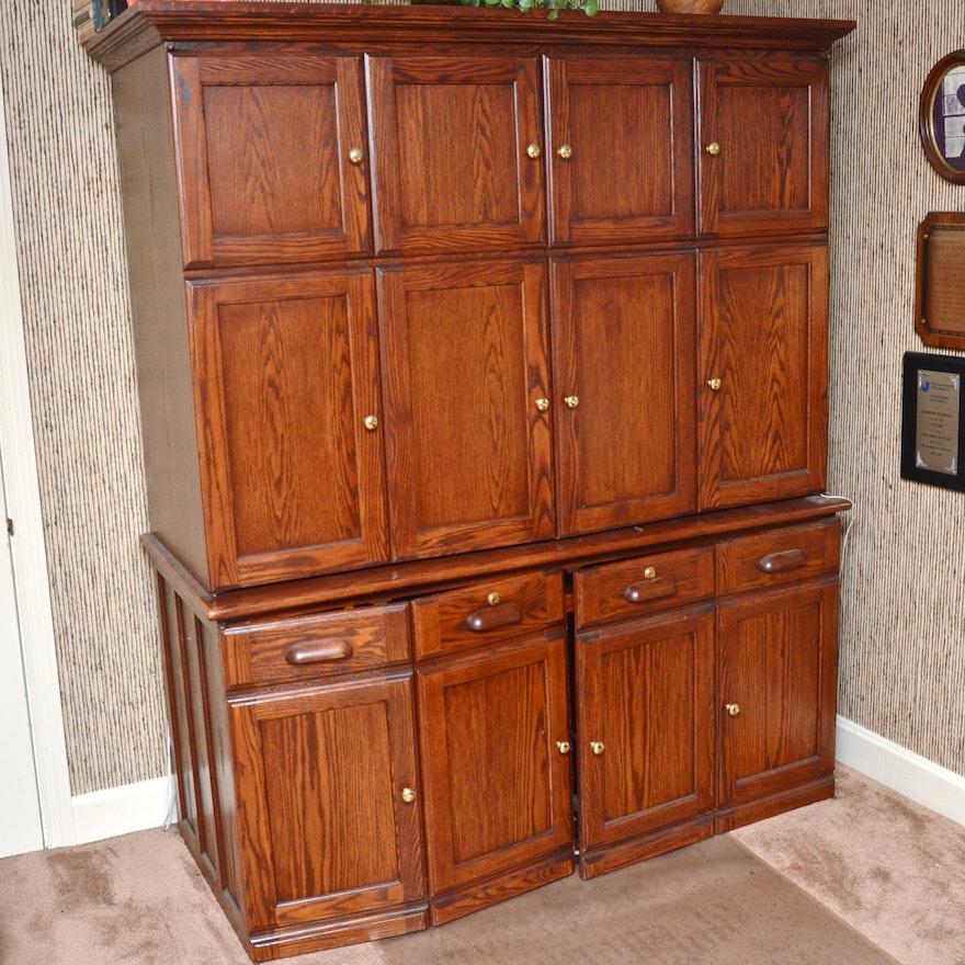 Oak Hideaway Desk Ebth