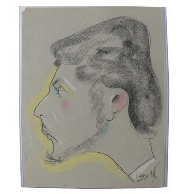 Caricature Sketch of Bob Guccione