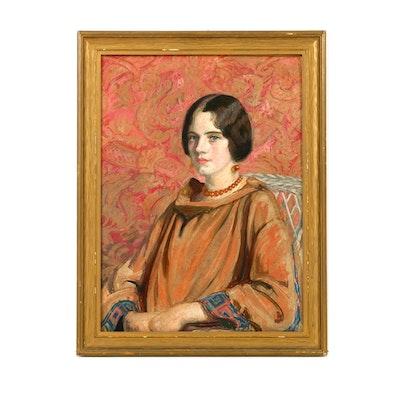 Pastel Portrait of a Woman by Emily B. Waite