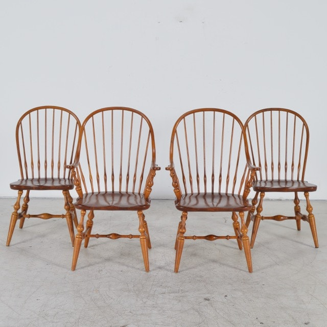 Attrayant Set Of Ethan Allen Windsor Style Chairs ...