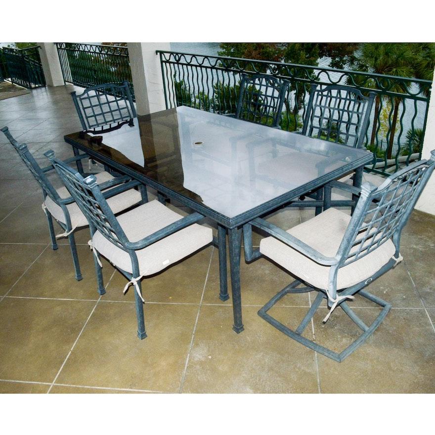 Hampton Bay Glass Top Patio Table Set Ebth