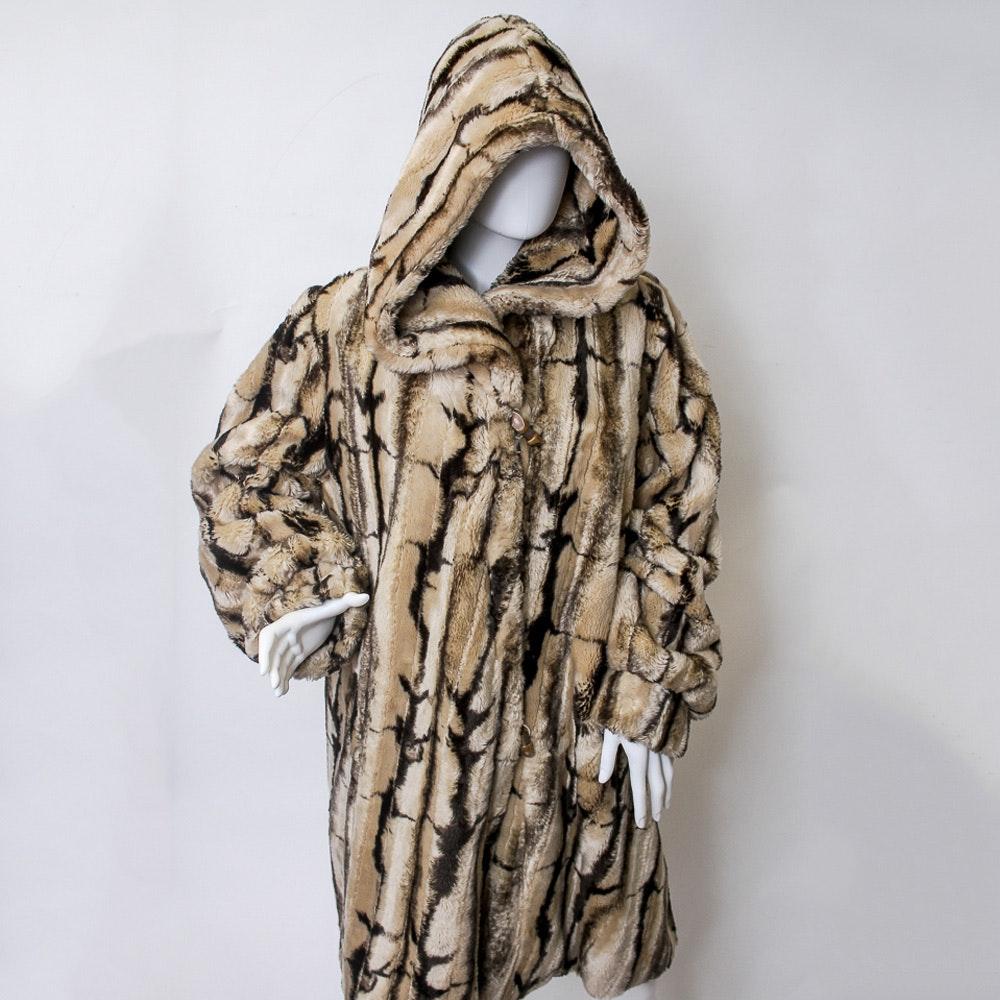 Vintage Hardy Amies Faux Fur Coat