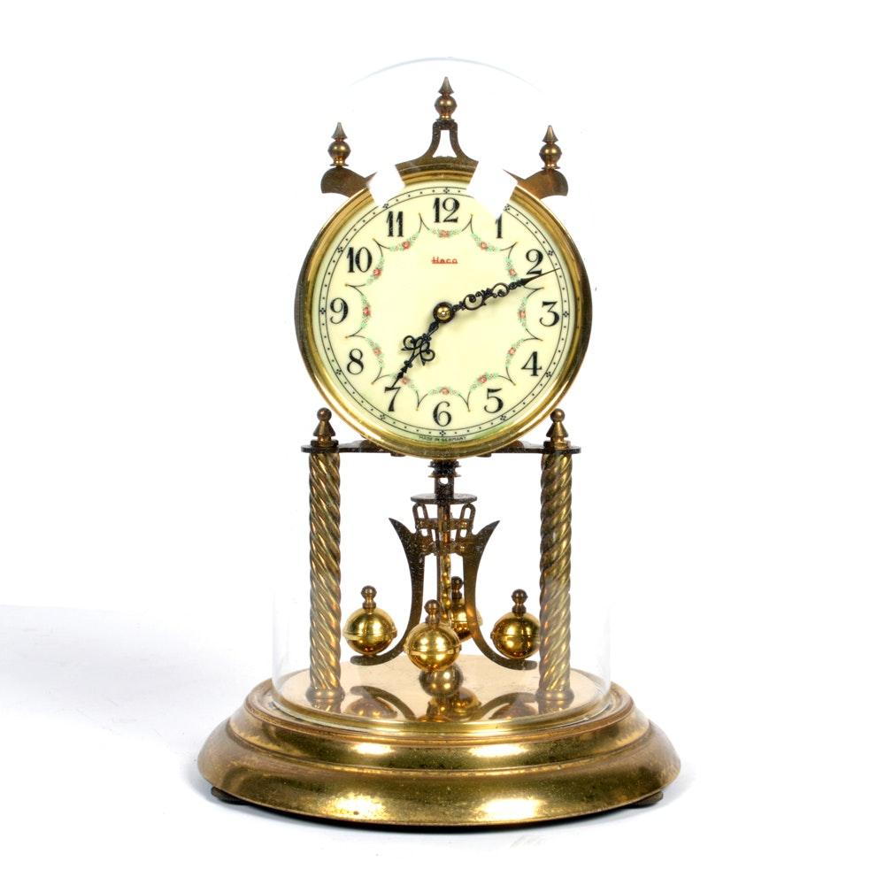 vintage german heco brass anniversary clock