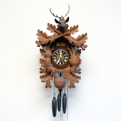 Wooden Pendulum Wall Clock Ebth