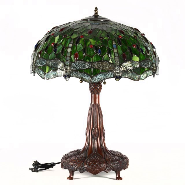 table lamp with dragonfly shade
