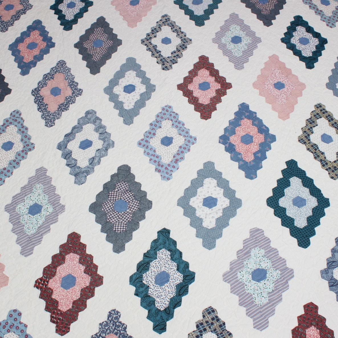 Vintage Quilt and Quilt Top