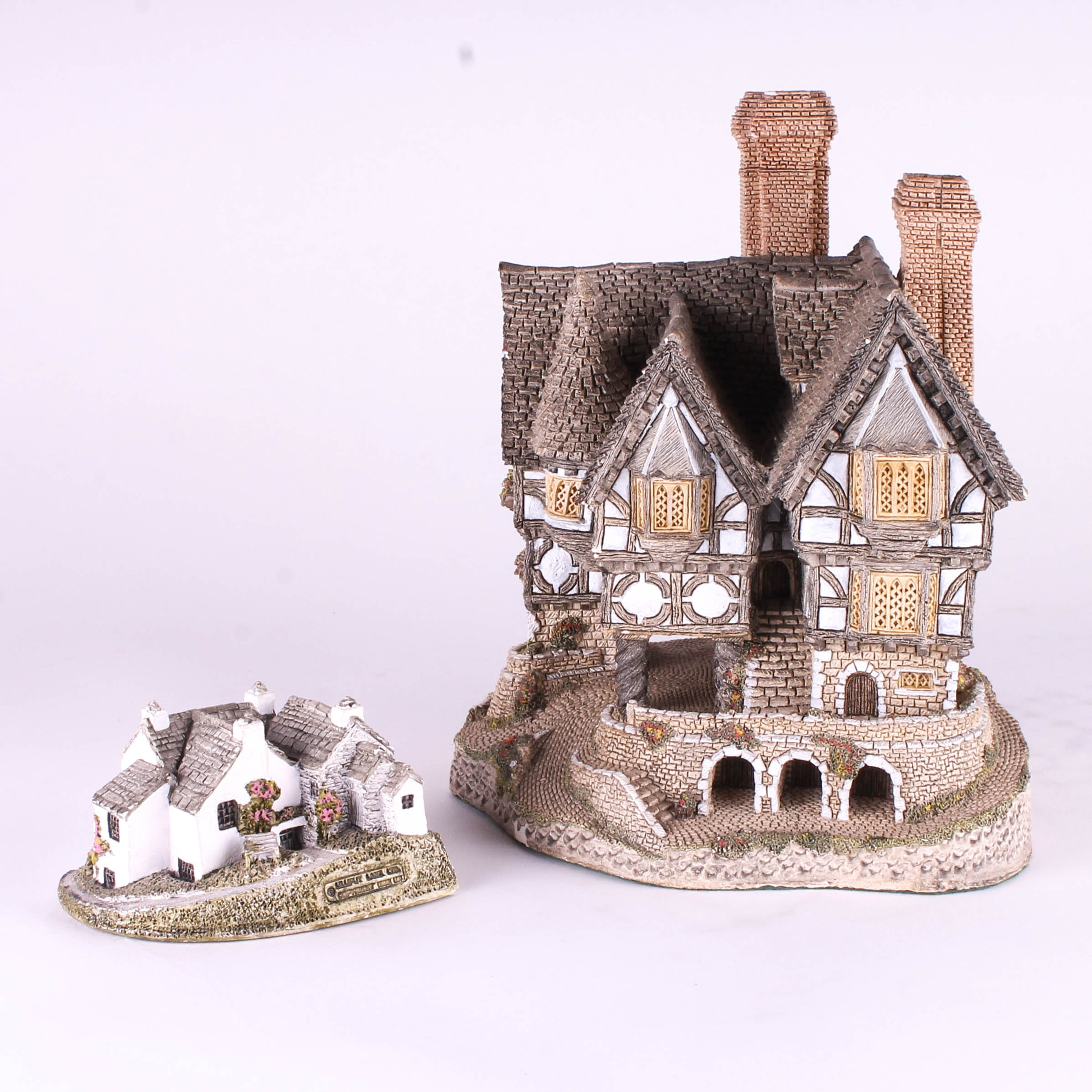 Pair of English Cottage Figurines