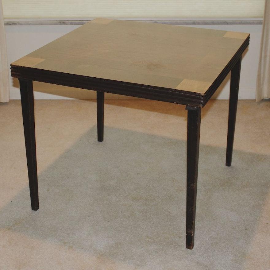 vintage folding card table ebth. Black Bedroom Furniture Sets. Home Design Ideas