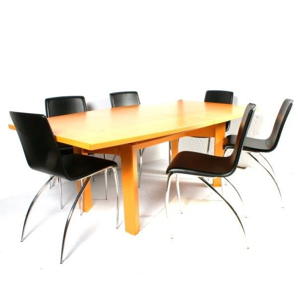 Maple Kitchen Table With Chair And Bench Ebth: Skovby Danish Maple Dining Table With Chairs : EBTH