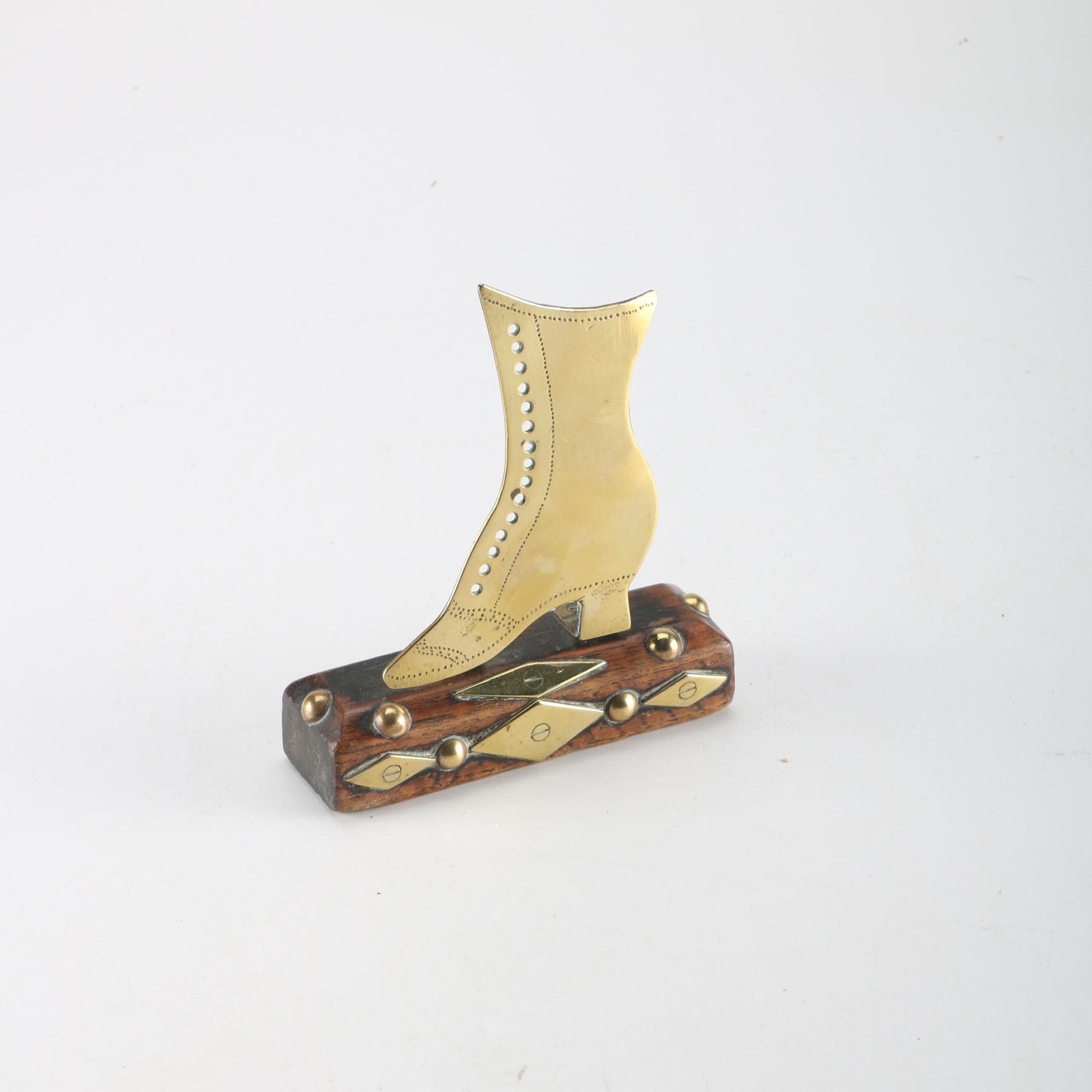 Brass Shoe Paperweight