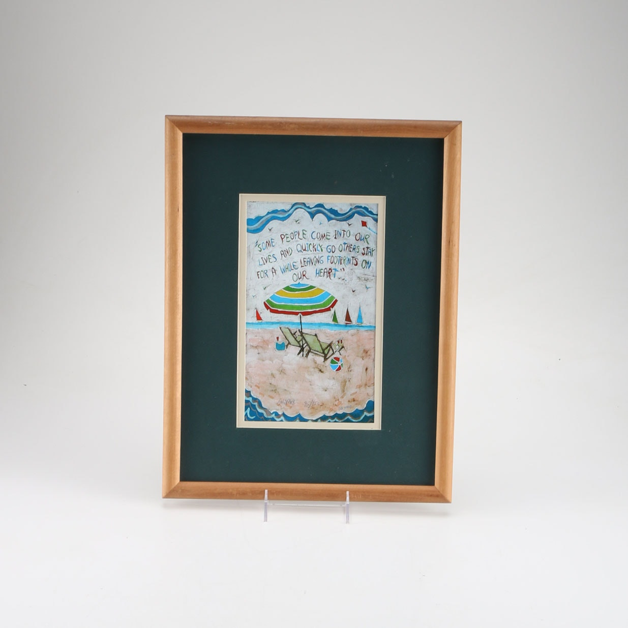 Goldfarb Limited Edition Offset Lithograph of a Beach Scene