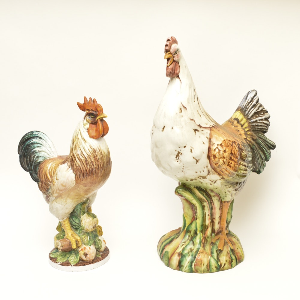 Grouping of Chicken Figurines