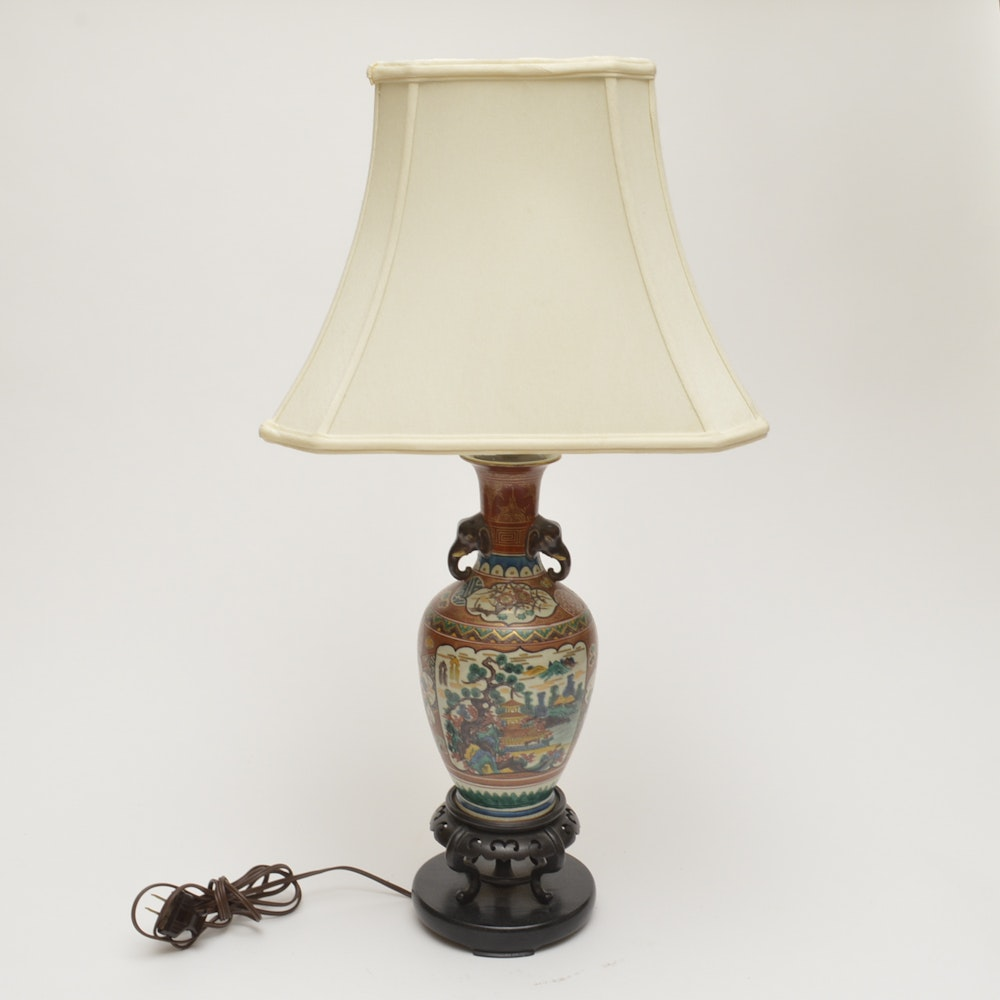 Gentil Ceramic Asian Style Table Lamp ...