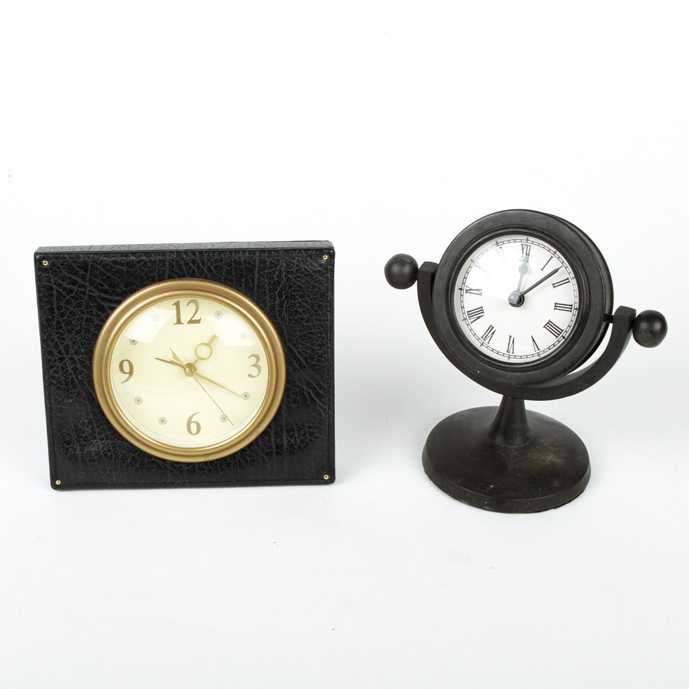 Collection Of Two Phinney Walker Bedside Clocks Ebth