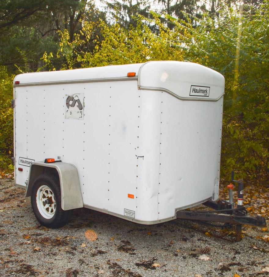 Haulmark 5 X 8 Foot Single Axle Enclosed Cargo Trailer : EBTH