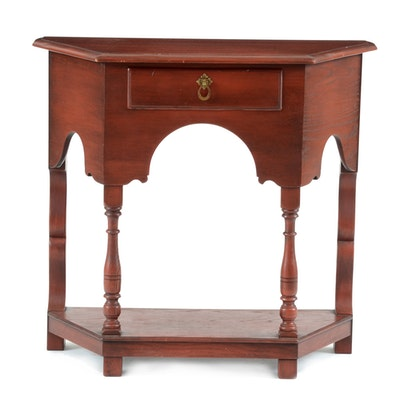 Early colonial style step up end table ebth - Console style colonial ...