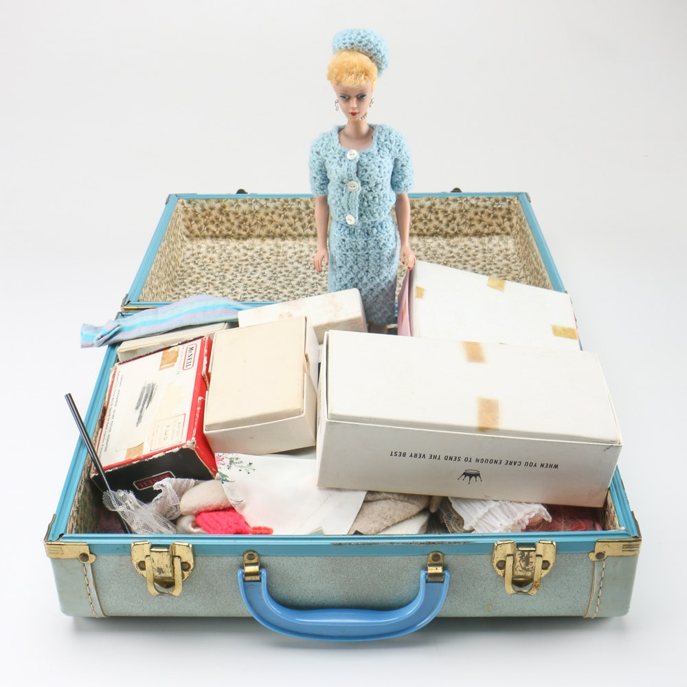 1962 Vintage Bubble Cut Barbie and Off Label Clothes
