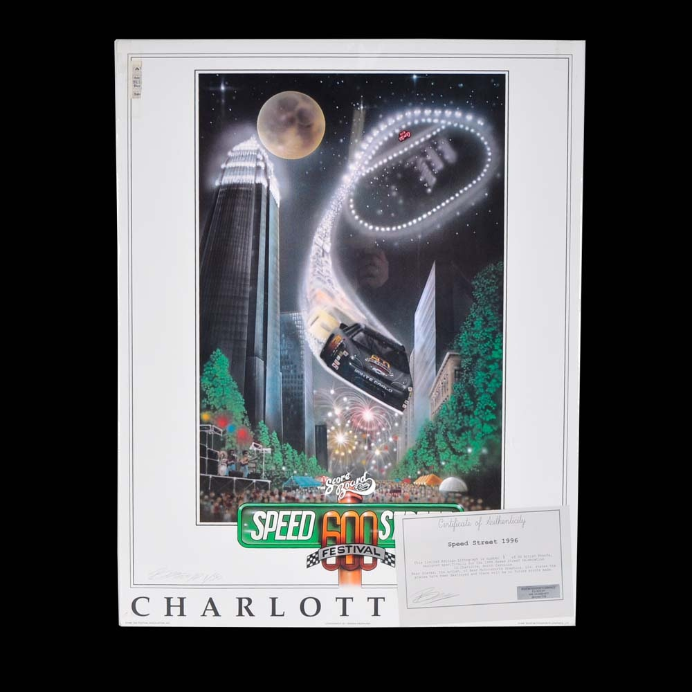 1996 Speed Street Signed Limited Edition Offset Lithograph