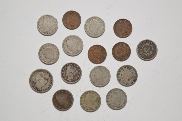 U.S. Half Dollars, Nickels and Pennies