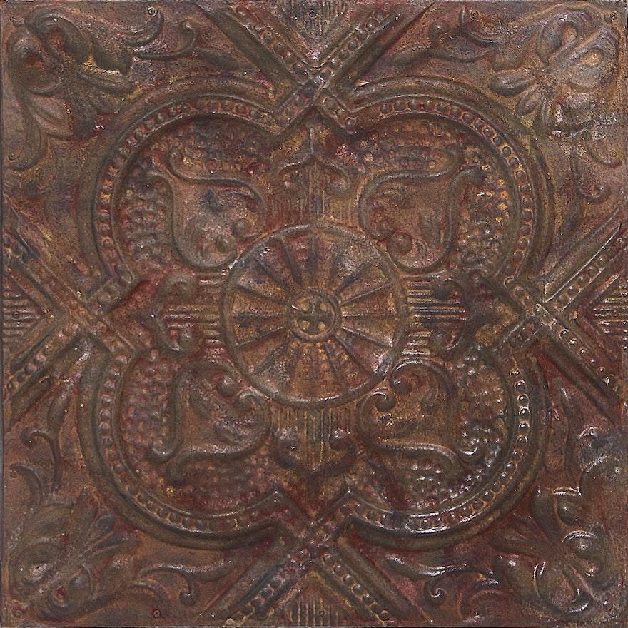 Metal Ceiling Tile Wall Art Ebth