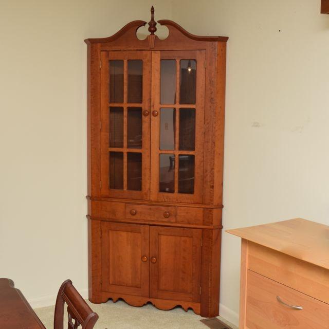 Kentucky Cherry Corner Cabinet