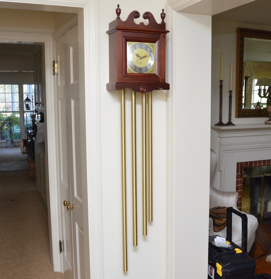 Grandfather wall clock by nutone ebth - Wall hanging grandfather clock ...
