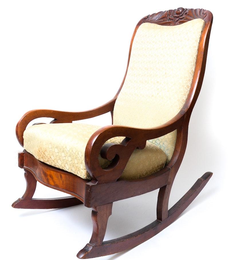 Vintage Empire Style Rocking Chair Ebth