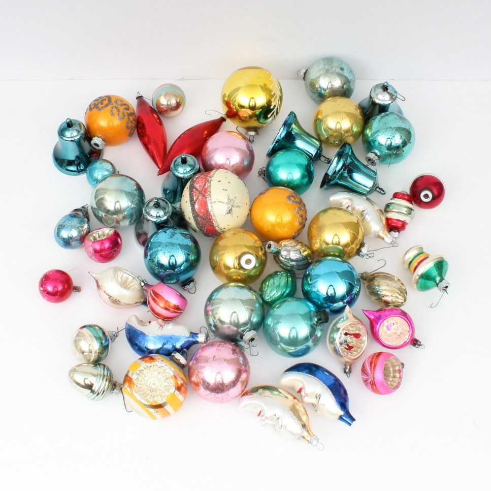 Vintage Glass Christmas Ornaments EBTH