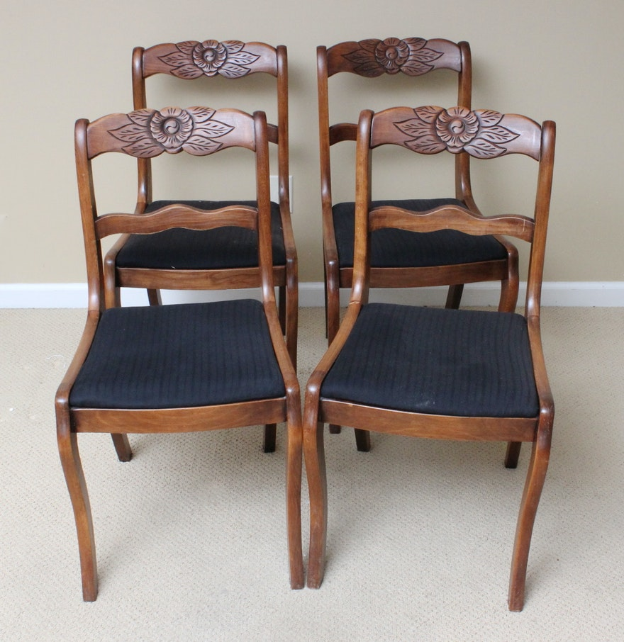 Colonial Dining Room: Antique Colonial Revival Dining Room Chairs : EBTH