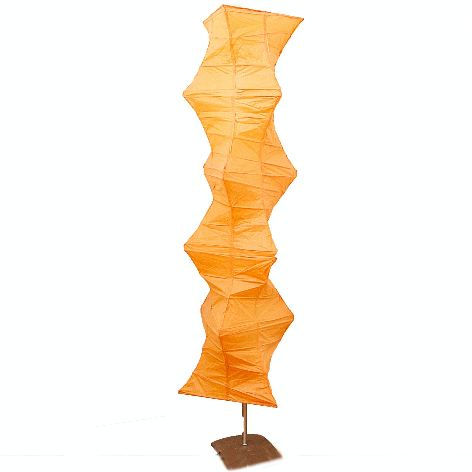 Contemporary Peach Orange Floor Lamp
