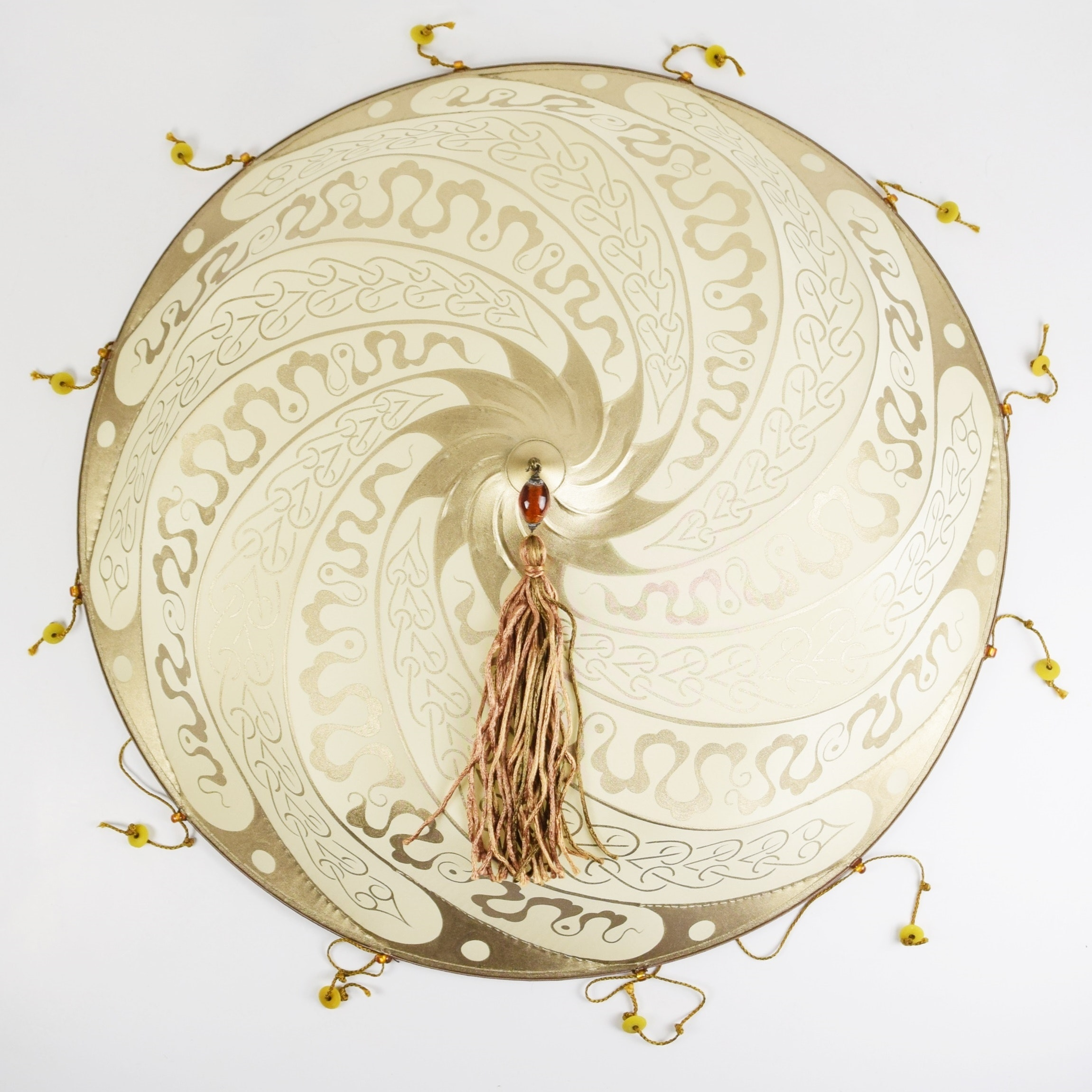 Handmade Italian Fortuny Silk Classic Suspension Chandelier