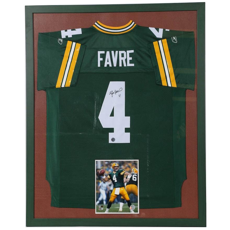 Brett Favre Framed And Autographed Jersey Ebth