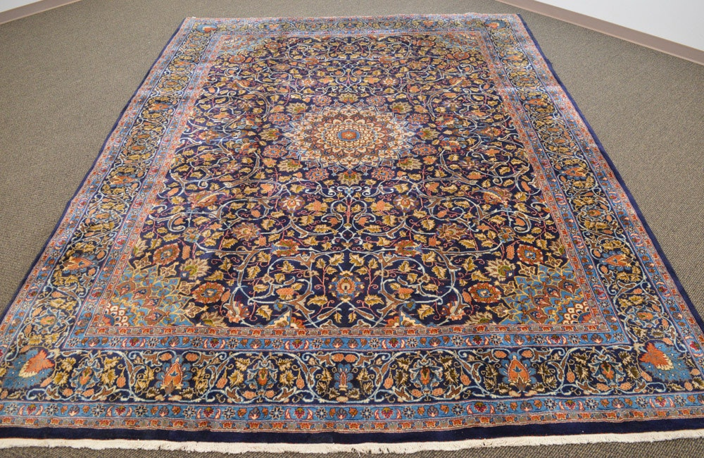 Elegant Room-Sized Hand Knotted Indo-Nain Area Rug