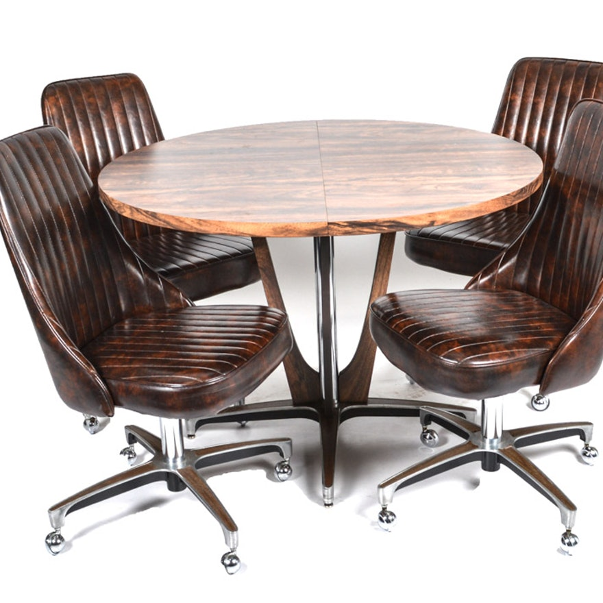 Chromcraft Mid-Century Dining Chairs And Table