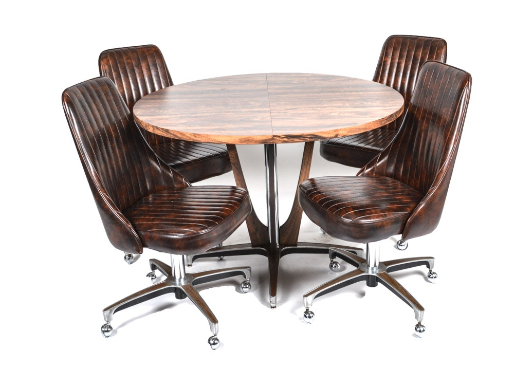 Attractive Chromcraft Mid Century Dining Chairs And Table ...