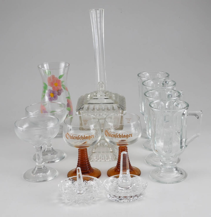 vintage glass decor and more ebth