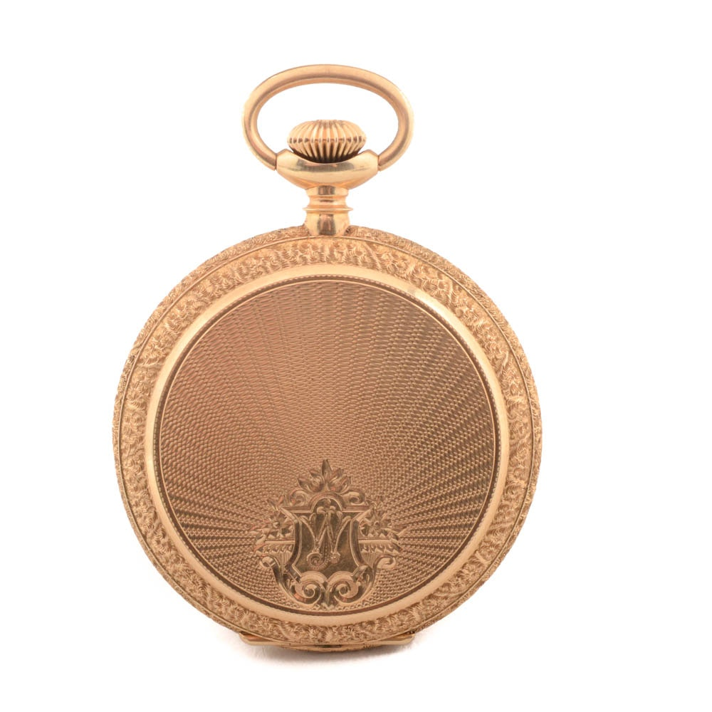 14K Yellow Gold Ben Schneider Jewelry Co Full Hunter Pocket Watch