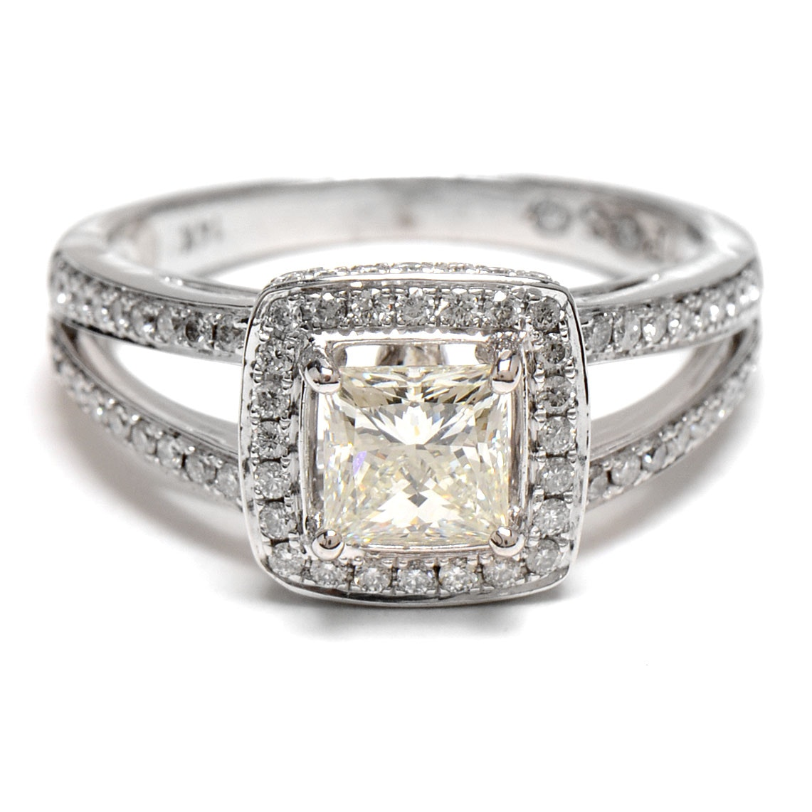 Women s 5 02 Carat 14K White Gold Engagement Ring EBTH