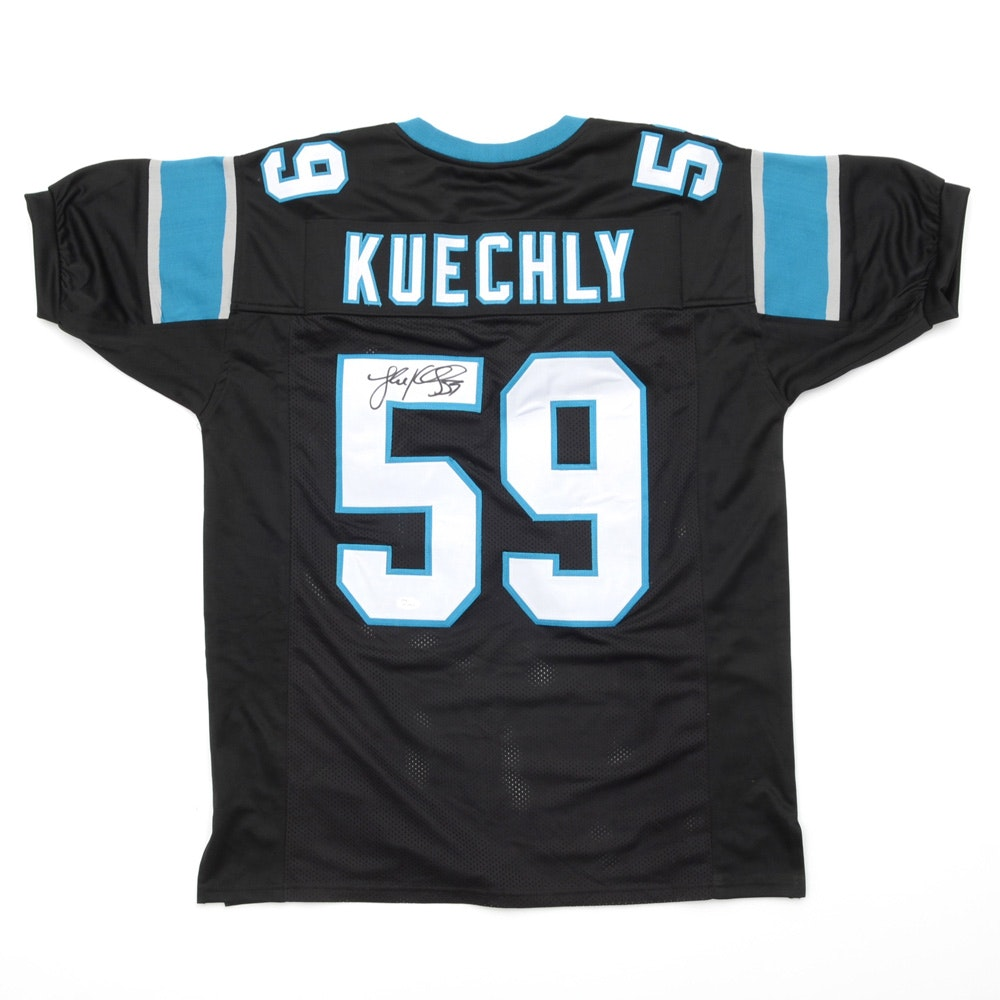 Luke Kuechly Signed Panthers NFL Football Jersey COA