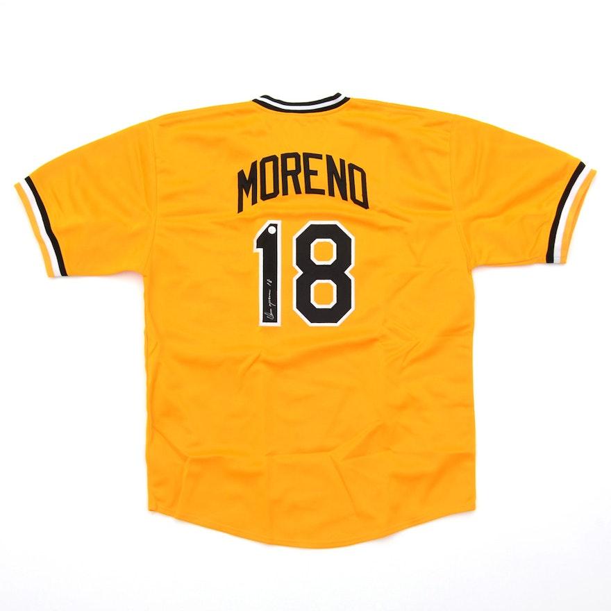 12959052893 Omar Moreno Signed Baseball Jersey COA   EBTH