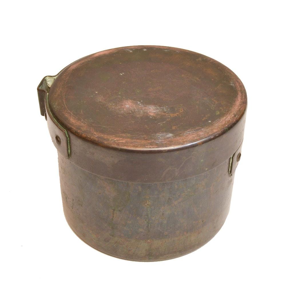 Antique Metal Container