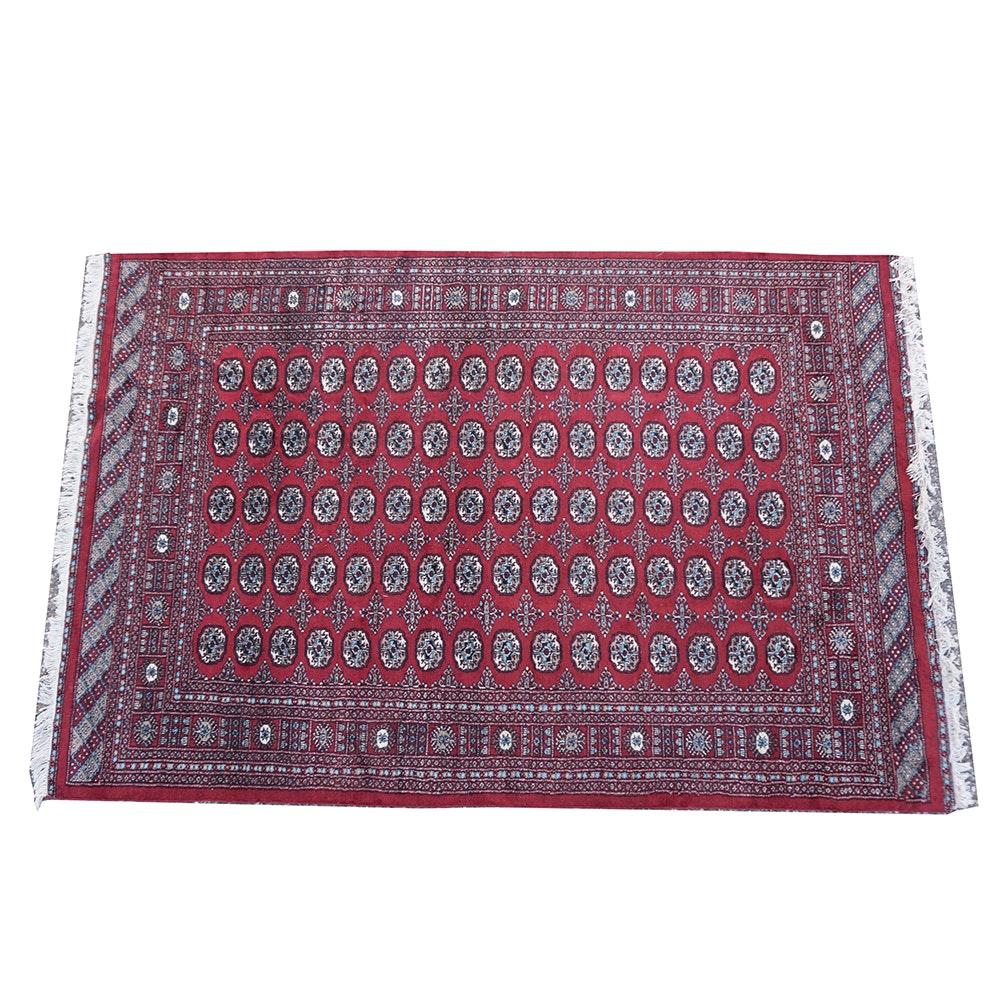 Handwoven Pakistani Bokhara Area Rug