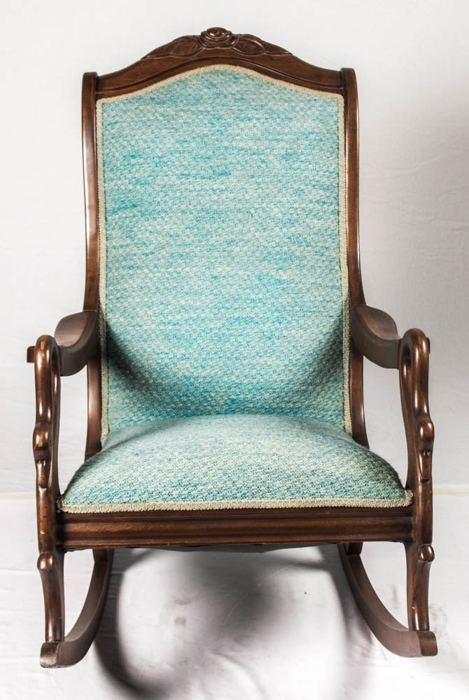 Antique Swan Neck Rocking Chair